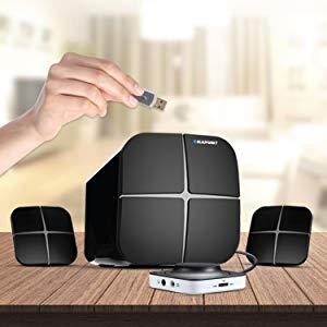 Blaupunkt SP-212 Bluetooth Home Audio Multimedia 2.1 Speaker Multiple Connectivities