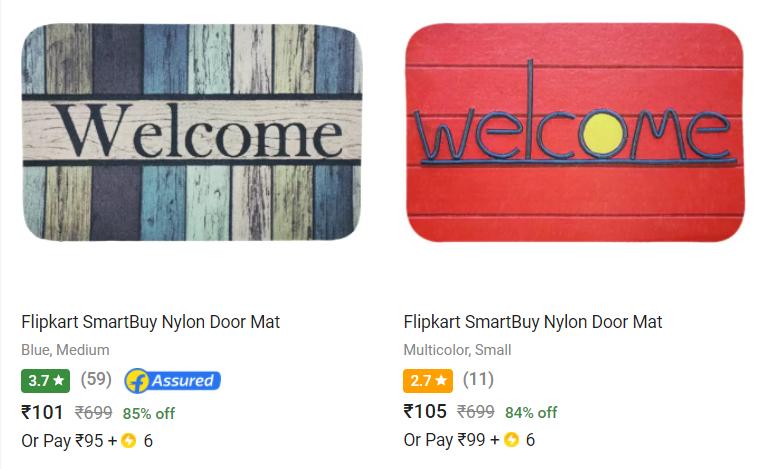 Flipkart Smartbuy doormats