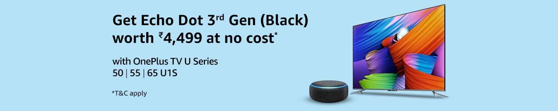 Free Echo Dot 3rd Gen with OnePlus TV U Series